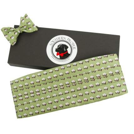 Green Cotton Cummerbund